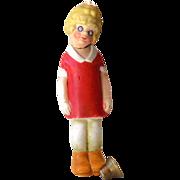 1920s Bisque Little Orphan Annie Bisque Nodder Head Bobber Germany