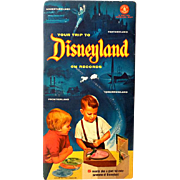 """SOLD 1955 Mattel """"Your Trip To Disneyland"""" Map & Records Complete Never Used"""