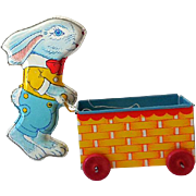 Vintage Chein Tin Lithograph Easter Rabbit and Cart