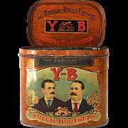 Large Colorful  1920s Yocum Bros Cuban Cigar Tin
