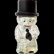 Vintage German Figural Perfume Bottle Man in Top Hat