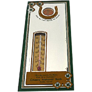 1959 Advertising Thermometer With Lucky Encased Penny