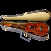SOLD Vintage Duke Kahanamoku Koa Wood Soprano Ukulele in Original Case