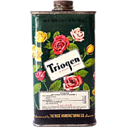 1930s Triogen Poison Roses Spray Insecticide Tin Nice Graphics