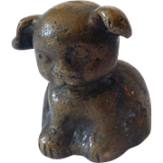 Early Hubley Cast Iron Puppy Dog Paperweight