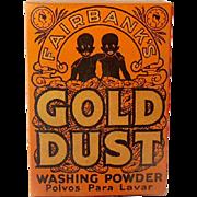 1930s Unopened Sample Size Gold Dust Washing Powder Black Americana