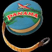 Vintage 1950s Advertising Celluloid Tap Measure Panama Typewriter Ribbons Airplane