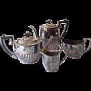 4 Piece Silver Plate Coffee & Tea Serving Set Cheltenham & Co. Sheffield