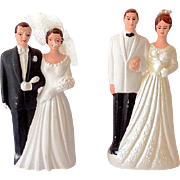 (2) Vintage 1950s Wedding Cake Toppers New Old Stock