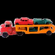 1940s Tootsietoy Car Transport Hauler Truck