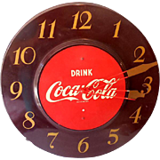 Dated 1951  Tin Coca Cola Advertising Store Display Clock Working
