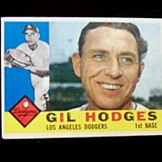 1960 Topps Baseball Card # 295 Gil Hodges