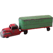 Tootsietoy Truckline Truck and Trailer 1940s-50s