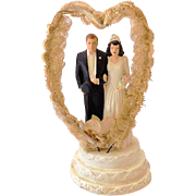 1947 Coast Novelty Chalk Wedding Cake Top Bride and Groom