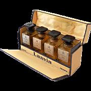 Boxed Set Lanvin Paris 4 Empty Miniature Perfume Parfume Bottles