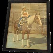 Signed Framed Color Photo Singing Cowboy Gene Autry