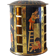 Vintage 1940's Tin Lithograph Stacking Coin Bank Children