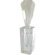 Gorgeous Vintage Etched Crystal Perfume Bottle