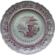 "SALE Mayer Mulberry ""Canova"" Transferware Plate c. 1830"