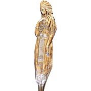 Sterling Full Figural Indian Souvenir Spoon, Alamo in Bowl - Wonderful