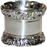 Antique English Sterling Napkin Ring 1901 Very Heavy by Atkin