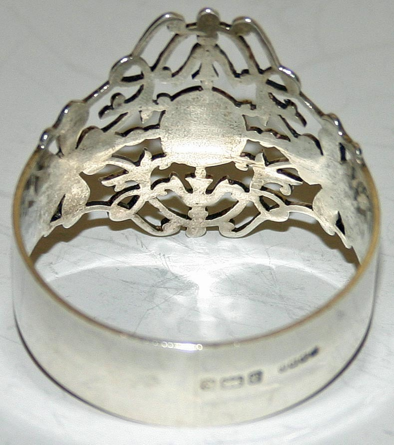 antique sterling napkin ring 1904 hallmarked from