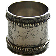 Heavy Antique Sterling Napkin Ring by Wood & Hughes