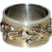 Rare Antique Sterling Glasgow, Scotland, Napkin Ring 1884