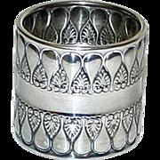 Stunning Gorham Antique (1896) American Sterling Napkin Ring