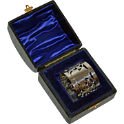 Antique English Sterling Napkin Ring in Original Box 1900