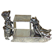 Rare Greenaway Boy & Girl Antique Figural Napkin Ring