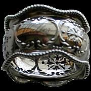 Antique (1896) Gorham Sterling Napkin Ring, Christmas