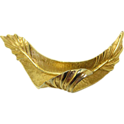 REDUCED Beautiful signed Boucher Gold Tone Brooch