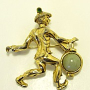 Wonderful Vintage Oleg Cassini Figural Brooch Pin