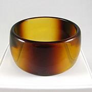 REDUCED Wide Vintage Translucent Lucite Bangle