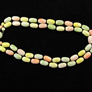Vintage Austria Two Strands Pastel Beads Necklace
