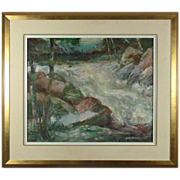 REDUCED George Menendez Rae Vibrant Oil Painting from Listed Artist