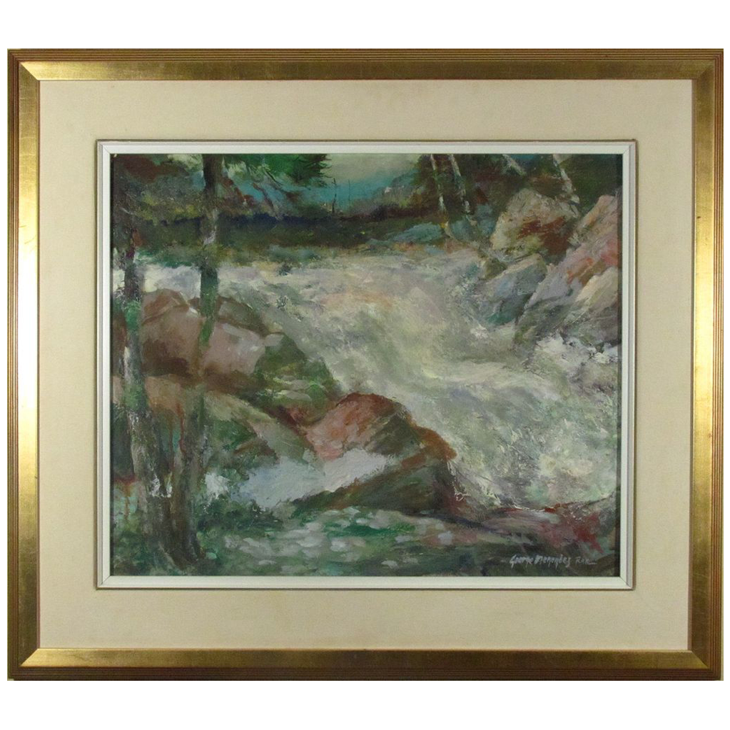 George Menendez Rae Vibrant Oil Painting from Listed Artist