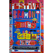 REDUCED Norman Laliberte (1925-) Hand Signed Large Bromont Poster