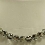 Wonderful Black Diamond Aurora Borealis Crystal Necklace