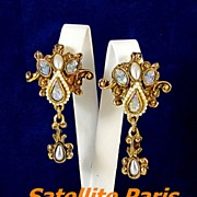 Bold Satellite Paris AB Faux Pearl Dangle Earrings