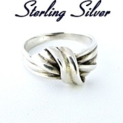 Vintage Sterling Silver Knot Ring Size 8.5