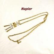 REDUCED Vintage Modernist Napier Necklace