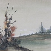 REDUCED Splendid Landscape Watercolors by Artist L.Talbot