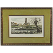 REDUCED Beautiful Pastoral Etching S/N by the Artist