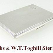 Birks & W.T.toghill & Co  Sterling Silver Cigarette Case
