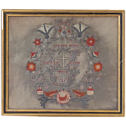 Superb Antique Religious Needlepoint Framed
