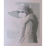 REDUCED Bernard Modeste Wonderful Lithography by Listed Artist