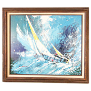REDUCED Superb Oil Painting of a Nautical Scene