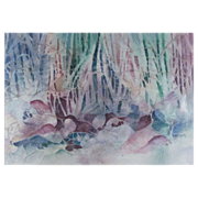 REDUCED Superb Watercolor by American Artist Hope Atkinson